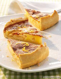 Schweizer Apfelkuchen mit Sahnecreme-Guss