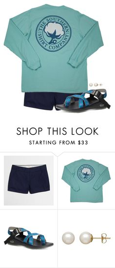 """Just got these chacos!! Any tips on adjusting?"" by preppy-ginger-girl ❤ liked on Polyvore featuring J.Crew and Honora"
