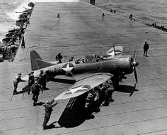 Flight Deck: USS Hornet, Battle of Midway 1942. This was a key battle that turned the tide in the Pacific during WWII.