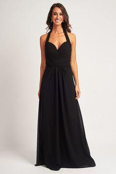 Details about UK Ever Pretty Plus Size Evening Dress Long Chiffon Maxi Party Dress Black 09016