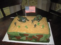 Military cake for 6th birthday party