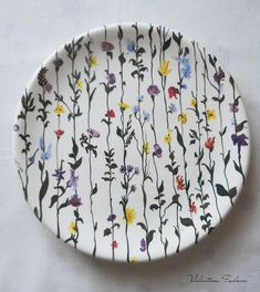 """Most recent Totally Free hand painted Ceramics plates Style Kaufen Sie Dish """"Blooming Garden"""" – Keramik, Geschirr … – Diy Painted Ceramic Plates, Hand Painted Ceramics, Ceramic Painting, Porcelain Ceramics, Ceramic Pottery, Painted Pottery, Fine Porcelain, Porcelain Jewelry, Porcelain Doll"""