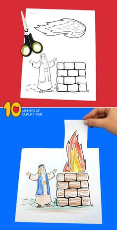 Elijah And The Prophets Of Baal Craft Bible Activities For Kids, Bible Stories For Kids, Bible Crafts For Kids, Bible Lessons For Kids, Preschool Activities, Group Activities, Sunday School Lessons, Sunday School Crafts, Elijah Bible