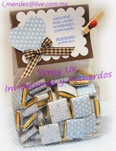 chocolates in a bag Idee Baby Shower, Baby Shower Favors, Baby Shower Parties, Baby Boy Shower, Craft Gifts, Diy Gifts, Candy Favors, Chocolate Bouquet, Candy Bar Wrappers