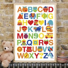 I'm a sucker for alphabet posters. You can bet one day it will go in a child's bedroom. (or maybe mine.)