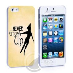 Never Grow Up Peter Pan iPhone 4, 4S, 5, 5C, 5S Samsung Galaxy S2, S3, – iCasesStore