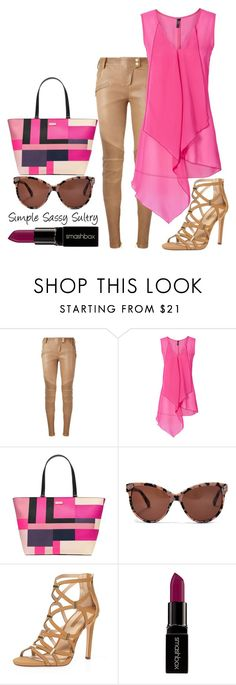 """Bubblegum"" by simplesassysultry ❤ liked on Polyvore featuring Balmain, Kate Spade, STELLA McCARTNEY, Dorothy Perkins and Smashbox"