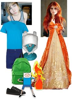 """Finn and Flame Princess outfit"" by fallingstarsshine ❤ liked on Polyvore"