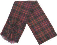 Scottish 100% Wool Tartan Ladies Mini Sash with Rosette - MacDonald IB. $20.95