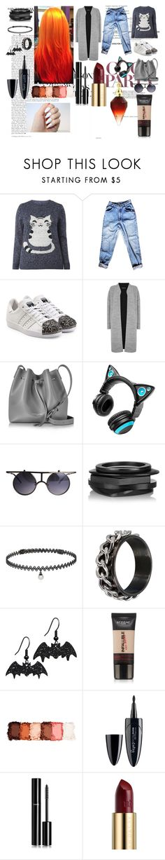 """Cat."" by it-srabina ❤ liked on Polyvore featuring adidas Originals, Warehouse, Lancaster, Brookstone, Kenneth Jay Lane, BERRICLE, L'Oréal Paris, NYX, Maybelline and Chanel"