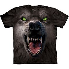 The Mountain BIG FACE ATTACK WOLF SHIRT Scary Growling Wolves T Tee S-3XL NEW #TheMountain #GraphicTee