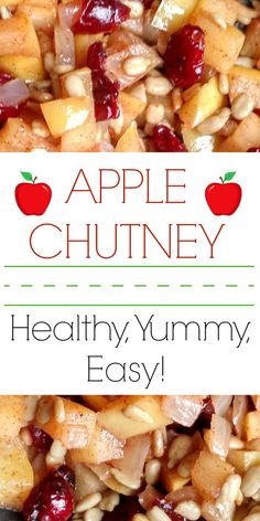 This delicious Apple Chutney recipe has less than a 1/4 of the amount of sugar in other recipes, and also takes less than a 1/4 of the time to make! Enjoy this easy and quick to make Apple Chutney as a side dish or serve with pork chops! Absolutely delicious and healthy for you too!