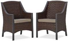 Amazon.com: Strathwood Mason All-Weather Wicker Dining Chair, Set of 2: Patio, Lawn & Garden
