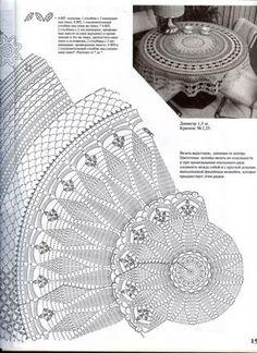Zdjęcie: Crochet Doily Diagram, Crochet Doily Patterns, Crochet Mandala, Crochet Chart, Thread Crochet, Filet Crochet, Crochet Motif, Mantel Redondo, Doily Art