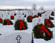 "CHRISTMAS AT ARLINGTON NATIONAL CEMETERY. ""Greater Love hath no man than this, that he may lay down his life for his friends."" (John 15-13)"