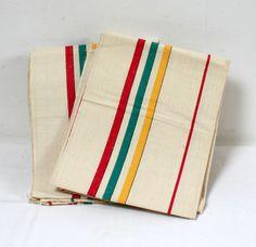 Torchons anciens bandes tricolores lamerelipopette.com