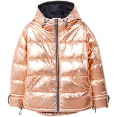 Metallic Puffer Jacket (€78) ❤ liked on Polyvore featuring outerwear, jackets, anorak coat, mango jackets and anorak jackets