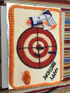 Nerf Gun birthday cake - Nerf Gun - Ideas of Nerf Gun Nerf Birthday Party, Nerf Party, 9th Birthday Cake, Birthday Ideas, Camo Birthday, Birthday Games, Nerf Gun Cake, Gun Cakes, Party Time