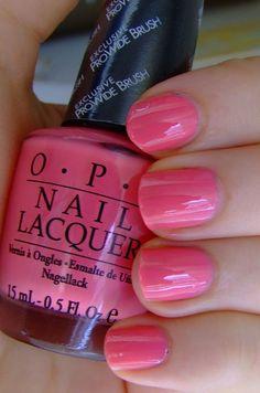 OPI - Elephantastic, my favorite pink shade! Opi Pink Nail Polish, Opi Gel Nails, Opi Nail Colors, Nail Lacquer, Toe Nail Color, Gel Polish Colors, Manicure And Pedicure, Pedicures, Cute Nails