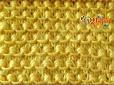 Nido d'ape: come si fa il punto e le diminuzioni (maniche e cappello) - YouTube