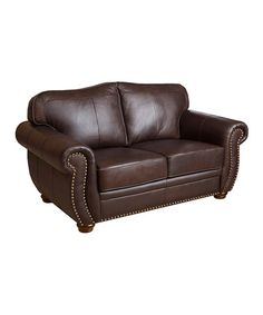 Look at this #zulilyfind! Milana Leather Love Seat #zulilyfinds