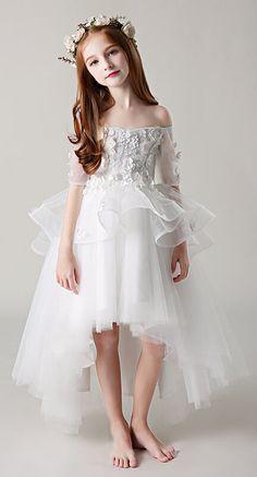 242aa2735 Princess Off Shoulder Children Wedding Flower Girl Dress (28198707)