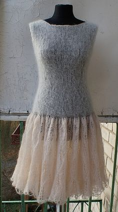 Crochet Fashion, Sweater Fashion, Yarn Crafts, Knit Patterns, Knit Dress, Sexy Dresses, Knits, Hand Knitting, Knitted Hats