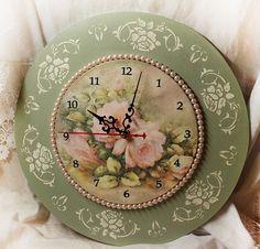"""Часы для дома ручной работы. Ярмарка Мастеров - ручная работа Часики """"Легкость бытия"""". Handmade."""