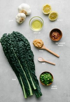 Roasted Garlic Miso Soup with Greens features the mellow roasted garlic flavor with umami miso and kale (the king of the leafy greens) for an immune boosting soup that's delicious and easy to make! #healthyrecipes #veganrecipes #plantbased Chicken Soup Recipes, Veggie Recipes, Vegetarian Recipes, Cooking Recipes, Healthy Recipes, Clean Eating Snacks, Healthy Eating, Clean Lunches, Kid Lunches