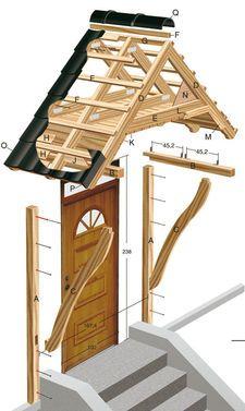 Как сделать козырек над крыльцом своими руками? Смотрите фото и видео самостоятельного строительства козырька над входом. У нас вы найдете схему постройки козырька из дерева над крыльцом. Front Door Overhang, Front Door Porch, Front Porch Design, Porch Roof, Side Porch, Door Canopy Porch, House Awnings, Cottage Entryway, Village House Design