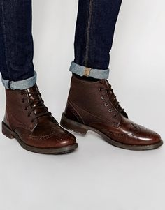 Original Penguin Leather Brogue Boot
