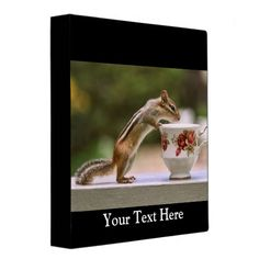 SOLD! Picture of Chipmunk with China Teacup Binder by FunNaturePhotography. #chipmunks #tea #binders http://www.zazzle.com/funnaturephotography*