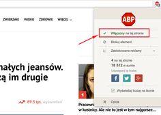Jak wyłączyć AdBlock'a? | Popularne.pl