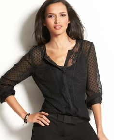 Whisper Lace Top #ATHauteHoliday