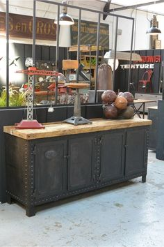 Old riveted cabinet