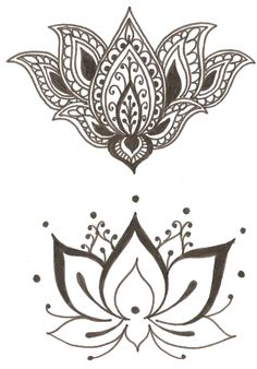 Lotus - Flower symbol of spirituality, beauty, femininity, purity. Hand tattoo? by lucile