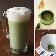 """Matcha Tea: A traditional Japanese method for preparing matcha calls for a bamboo whisk with superfine tines; however, home cooks can also hack the process using a mini immersion blender or whisk. And while the Japanese take their matcha """"green,"""" some drinkers may find the unadulterated mixture too bitter and grassy for their liking. That's why we've included a quick latte recipe for easy matcha drinking. Take a look at 3 ways to make matcha."""