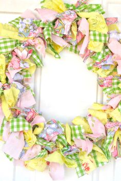 Whether you are having a barn wedding or are looking for something to hang on your own front door, check out this easy DIY fabric wreath