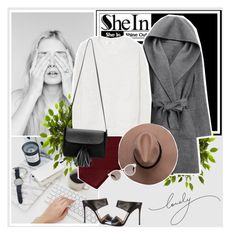"""""""Sheinside"""" by anxhela-beluli ❤ liked on Polyvore featuring Nearly Natural, WithChic, MANGO, Gianvito Rossi, Illesteva and shein"""