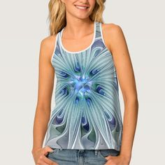 Another Floral Beauty, abstract Fractal Art Tank Top