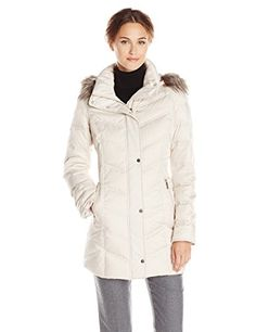 Kenneth Cole New York Women's Chevron Down Coat with Faux Fur Trim, Frost, X-Small Kenneth Cole http://smile.amazon.com/dp/B00KZZ8W0A/ref=cm_sw_r_pi_dp_n7kDwb15ZQYZT