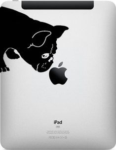 French Bulldog Sniff Decal for iPad 1 or iPad 2 by IvyBee on Etsy, $15.99  I NEED THIS!!! Adorable!!