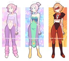 By Dav-19 tumblr. Pearl as her fusions. From Steven universe