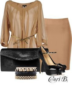 """Work Day w/Credo Milan - Argenta"" by cori-black ❤ liked on Polyvore"