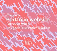 Create a Portfolio website for your work - Designers, Artist & Illustrators
