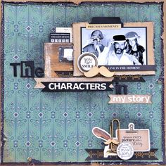 Kaisercraft Products Used: 'Story Book Collection' KC Mar Challenge - SB - Characters 1 Photo Layouts, My Scrapbook, Journal Pages, Page Design, Scrapbooking Layouts, One Pic, Card Making, Challenges, Paper Crafts