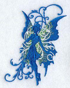 Azure Filigree Fairy design (D6767) from www.Emblibrary.com