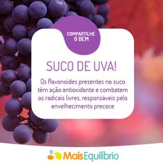 Inclua o suco de uva no seu cardápio e tenha mais saúde! http://maisequilibrio.com.br/aposte-no-suco-de-uva-integral-e-tenha-mais-saude-2-1-1-754.html