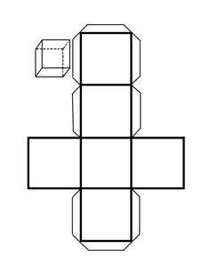 How to Make a Cube out of Cardboard. A cube is a polyhedron with six square faces. Thus, one cube is also a hexahedron as it has six faces. If you need to learn how to make a cardboard cube for a school project or want to create your ver. Cardboard Paper, Cardboard Crafts, Patron Cube, Cube Template, Box Templates, Paper Cube, Cubes, Geometry Activities, Silhouettes