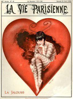 hoodoothatvoodoo:  La Vie Parisenne Illustration by Cheri Herouard 1928